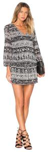 Joie short dress Black, White Print Floral Flowy Comfortable Cotton on Tradesy