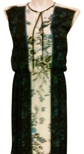 Adrianna Papell Floral Chiffon Blouson Dress