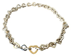Tiffany & Co. Tiffany & Co 925 Sterling Silver Heart Link Necklace