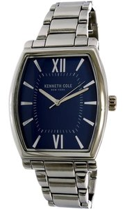 Kenneth Cole 10031347 Men's Silver Steel Bracelet With Blue Analog Dial