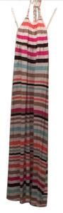 pink brown beige teal orange Maxi Dress by Banana Republic