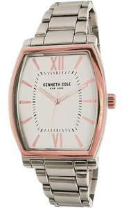 Kenneth Cole 10031349 Men's Silver Steel Bracelet With Silver Analog Dial