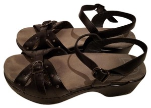 Dansko Sissy Leather Sissy Comfort Black Sandals