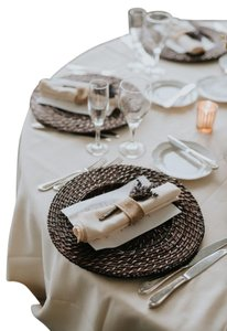 Rattan Charger Plate Wedding
