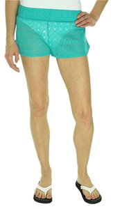 Miken Miken Women's Crochet Swimsuit Cover-Up Shorts, Green, M