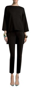 Peace of Cloth Ankle Fitted Skinny Career Stretch Straight Pants BLACK