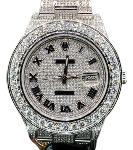 Rolex Custom Made Watch New Rolex Date Just II Flooded With Genuine Diamonds