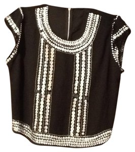Guess Top Black and silver