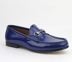 Gucci Brushed Shiny Leather W/horsebit Detail Loafer 8 / Us 8.5 387598 4236