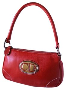 Dior Christian Signature Tote in Red