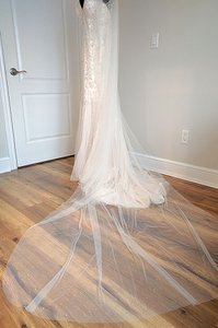 Rose Champagne Long Stacy Bridal Veil