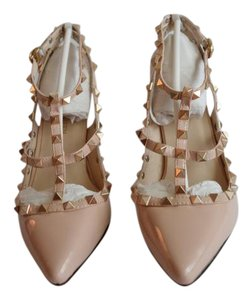 Other Rockstud Nude Metallic POUDRE Pumps