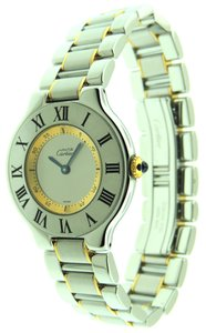 Cartier Cartier Must 21 Gold and Stainless Steel 31mm 1330 Watch & Box
