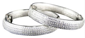 Other New Ladies Round Cut Diamond Hoops Huggie Earrings 1.4 Inch 1.2 Ct