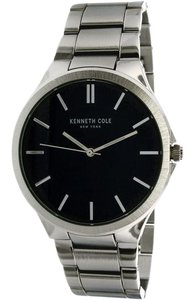 Kenneth Cole 10031361 Men's Silver Steel Bracelet With Blue Analog Dial
