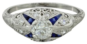 Other 1920s Antique Art Deco Platinum .50ct Old European Diamond Ring EGL