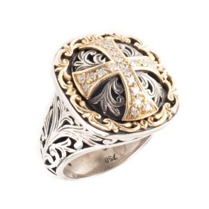 Konstantino Konstantino Diamond Maltese Cross Ring