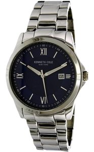Kenneth Cole 10031363 Men's Silver Steel Bracelet With Blue Analog Dial