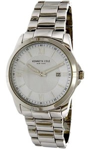 Kenneth Cole 10031365 Men's Silver Steel Bracelet With Silver Analog Dial