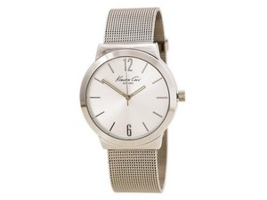 Kenneth Cole KCW3061 Classic Men Silver Steel Bracelet With Silver Analog Dial