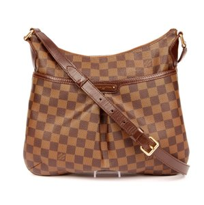 Louis Vuitton Damier Canvas Bloomsbury Pm Classic Checkered Leather Cross Body Bag