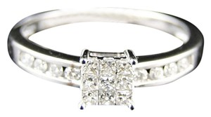 Other 14K White Gold Engagement Princess Diamond Wedding Band Ring .25Ct