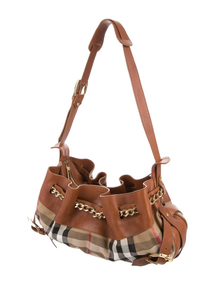 Burberry Margaret Nova Check Canvas Tan Leather Satchel - Tradesy d9336aa8883e0