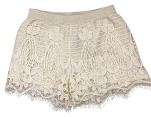 American Eagle Outfitters Dress Shorts Ivory