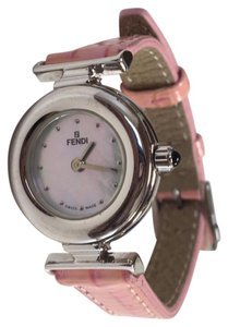 Fendi FENDI Silver w/ Pink Band Ladies Watch