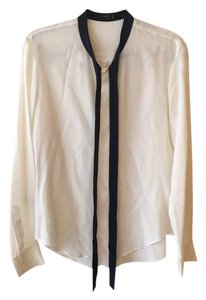Joseph Top Cream with navy Blue accents