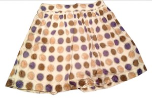 Edme & Esyllte Stretchy Flowy Skirt Tan with polka dot pattern