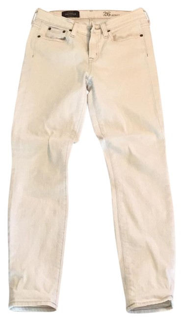 Item - Off White/Cream Light Wash Toothpick Skinny Jeans Size 26 (2, XS)