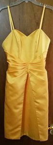 DaVinci Bridal Yellow Formal Dress Dress
