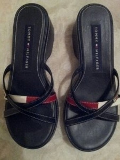Tommy Hilfiger Navy Blue with Red & White Sandals