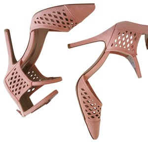 Qupid Sexy Laser Heel Sale Salmon Pumps