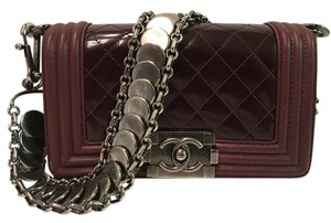 Chanel Limited Edition 2 Strap Silver Hardware Cc Push Lock Elegant Shoulder Bag