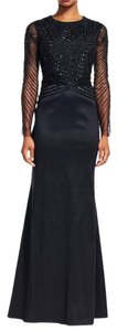 Adrianna Papell Beaded Gown Longsleeve Dress