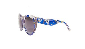 Highlights NWTags Floral Royal Blue Frame Oversized Cateye Sunglasses