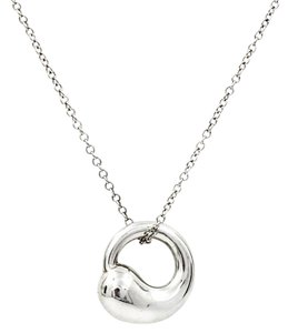 Tiffany & Co. Tiffany & Co. Elsa Peretti Eternal Circle Pendant on Chain in Sterling