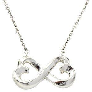Tiffany & Co. Tiffany & Co.Paloma Picasso Double Loving Heart Necklace Sterling 18''