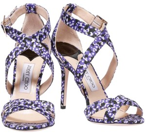 Jimmy Choo Purple, Black, White Pumps