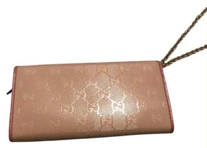 Gucci pink and beige Clutch