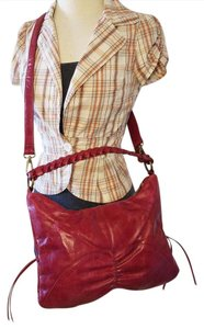 Hobo International Leather Leather Satchel in red