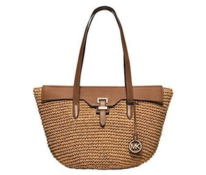 Michael Kors Tote in White & straw
