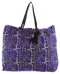 Lanvin Tote in Purple, Black, White