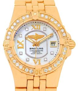 Breitling Breitling Starliner 30 Mother of Pearl Diamond Watch H71340 Box Papers