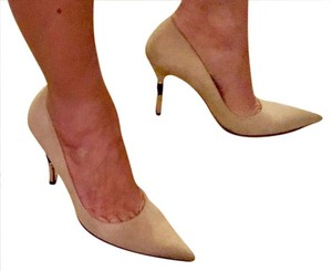 Gucci Suede Designer Tan Pumps