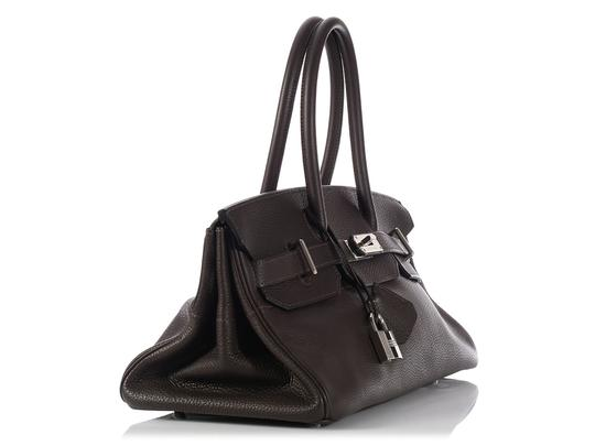 Hermès Hr.k1123.06 Clemence Leather Palladium Satchel in Brown Image 2