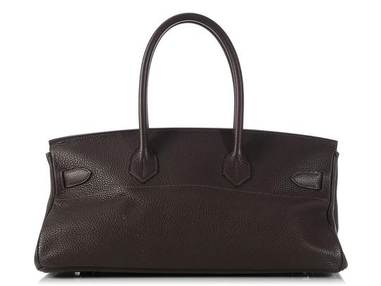 Hermès Hr.k1123.06 Clemence Leather Palladium Satchel in Brown Image 5