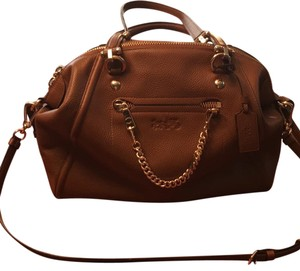 Coach Satchel in honey brown